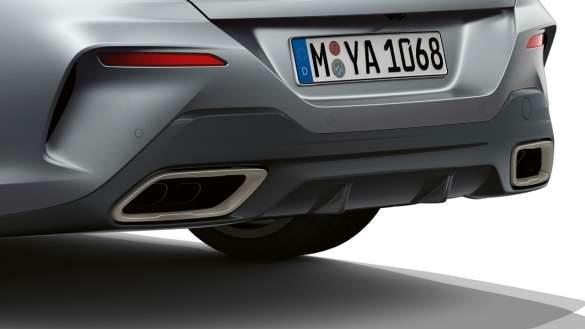 BMW 8er Gran Coupé freiform Endrohre