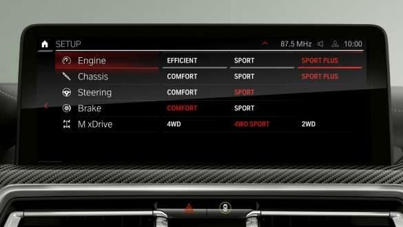 BMW X3 M Competition F97 LCI Facelift 2021 M Setup Control Display